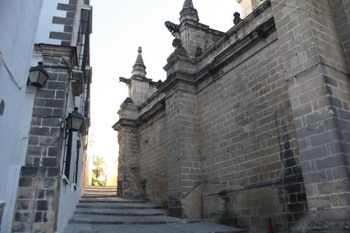 jalanan samping gereja Jerez